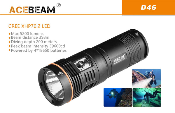 Acebeam D46 Diving Light
