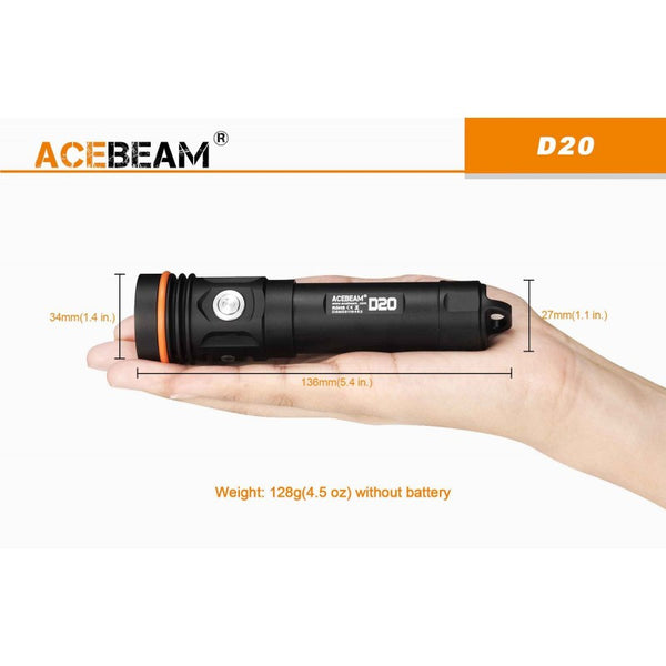 Acebeam D20 Diving Light