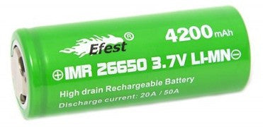 26650 Efest Green 4200mAh IMR26650 High Discharge Flat Top