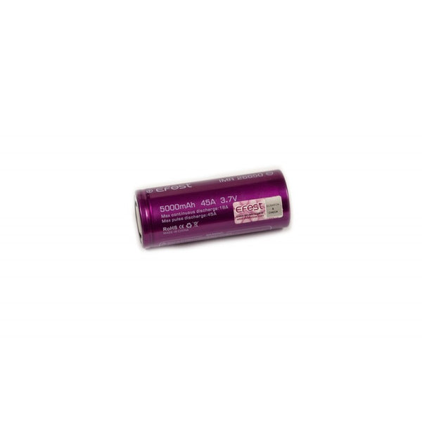 26650 Efest Purple 5000mAh IMR26650 Flat Top