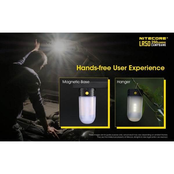Nitecore LR50 - Best Lantern 2*18650 Included