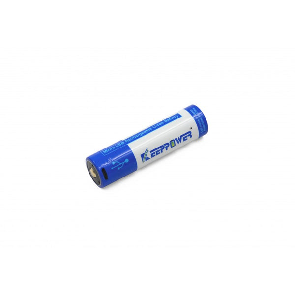 Keeppower Protected 3500mAh 18650 Micro-USB Charge Port