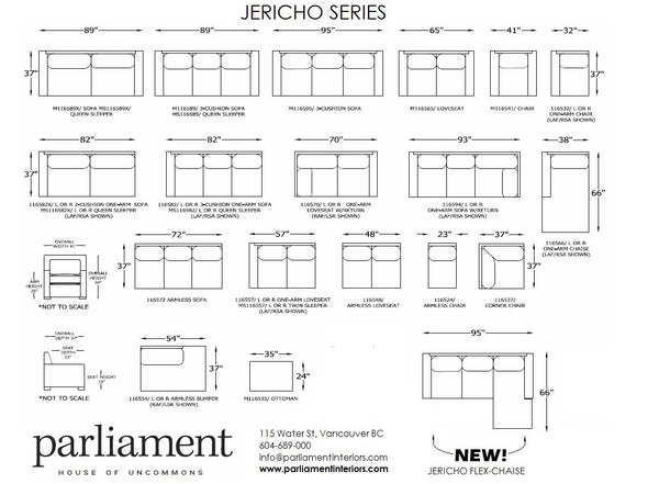 Jericho Sofa/Sectional Series