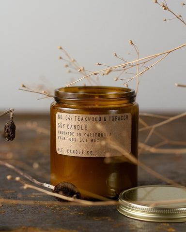 Teakwood and Tobacco Candle - Parliament Interiors