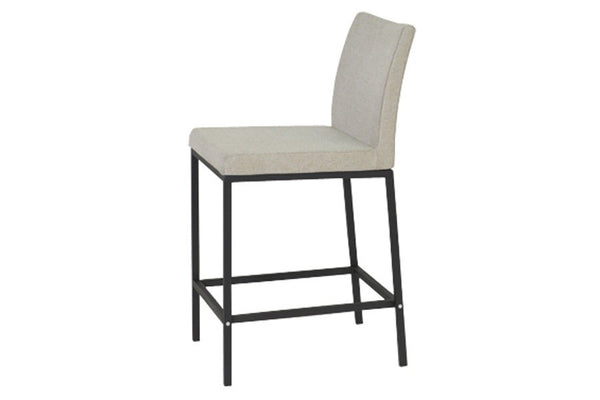 Aria Counter and Bar Stools - Chrome or Black Powder-coated Base