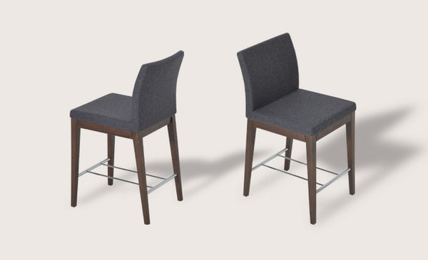 Aria Counter and Bar Stools - Wood Base