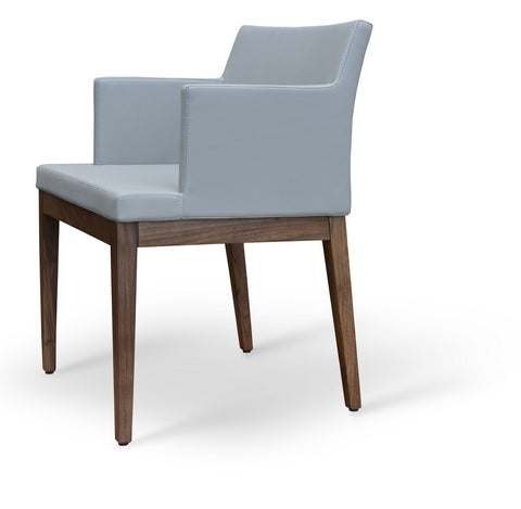 Soho Arm Chair - Wood Base - Parliament Interiors