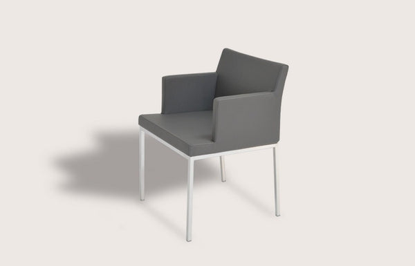 Soho Arm Chair - Chrome or Black Powder Coat
