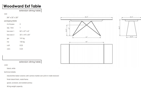 Woodward Extension Dining Table - Parliament Interiors