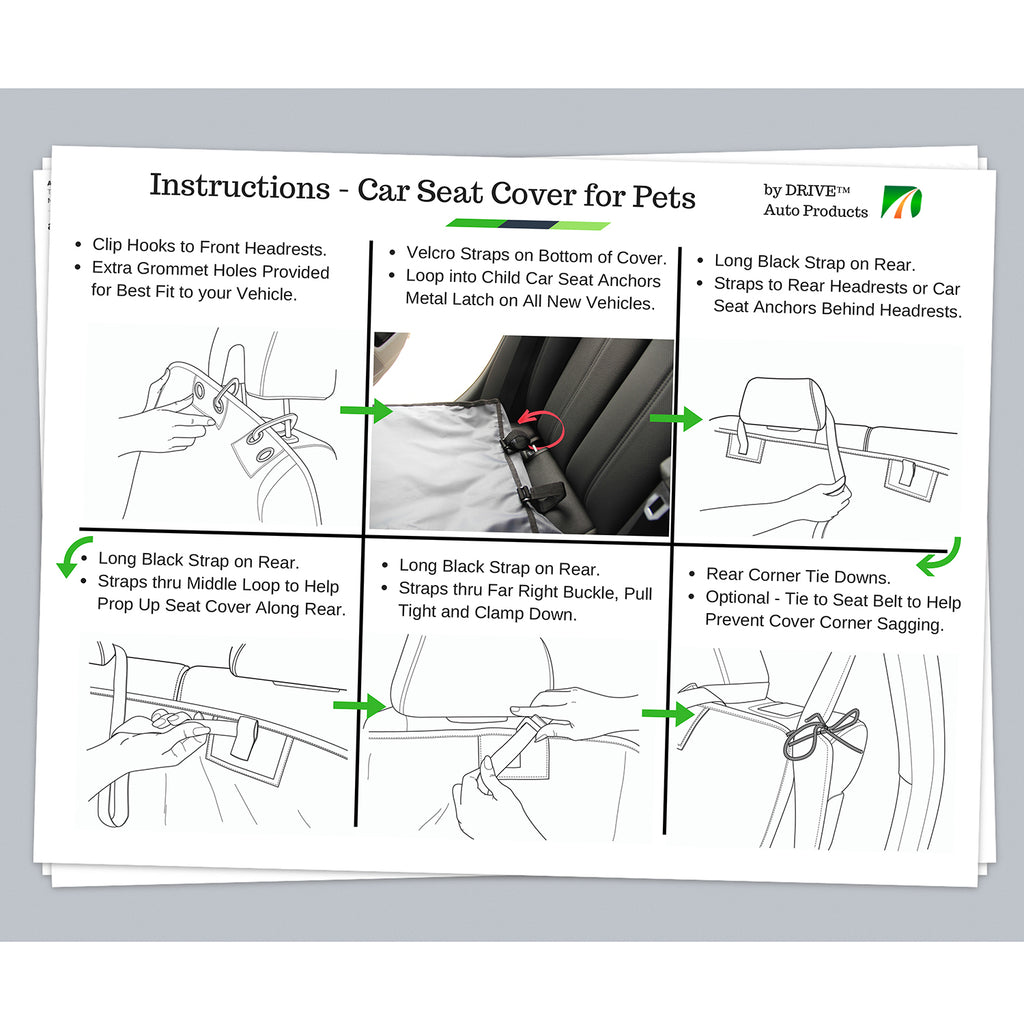 Pet Car Seat Cover, Standard Model