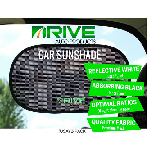 Car Window Shade (2-Pack) - White Reflection Series
