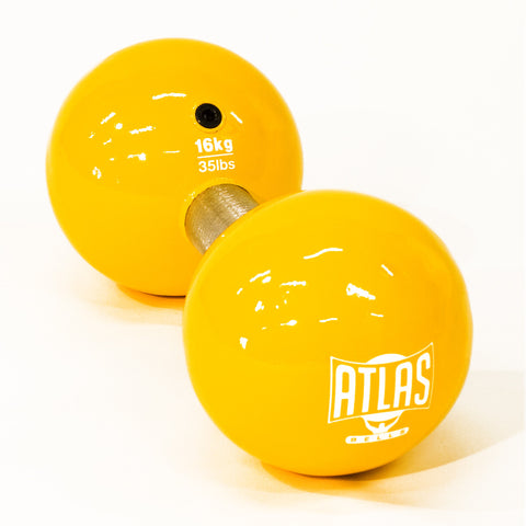 16kg Vintage Dumbbell (Yellow 35.2 lbs)