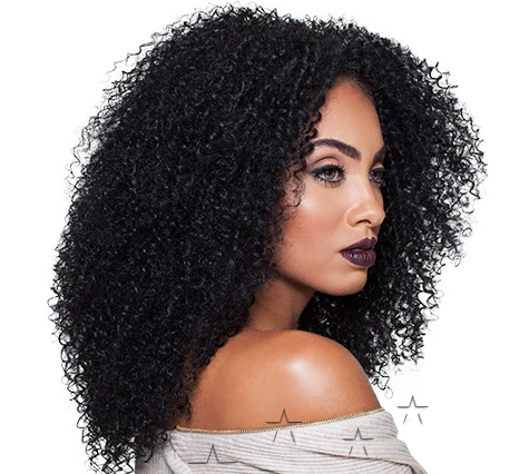 Lace Front Wig Big Beautiful Hair 3C-Whirly - BlackWigBrasil - 1