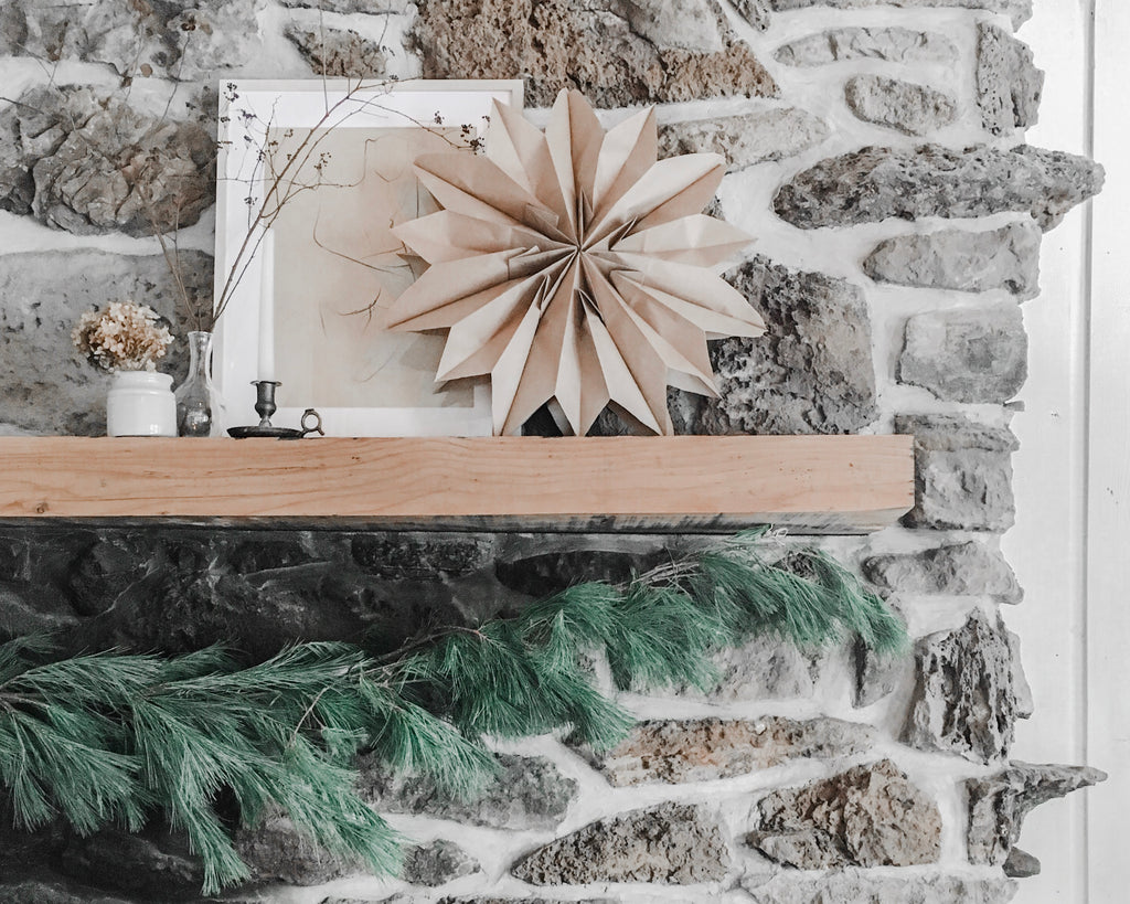 Paper star christmas étoile de papier scandinave diy comment faire