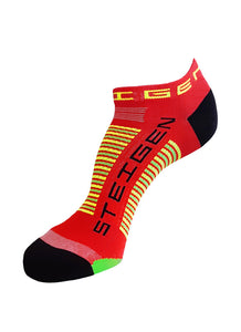Cherry Red Quarter Length Running Socks