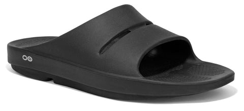 OOfos Mens OOah slide black