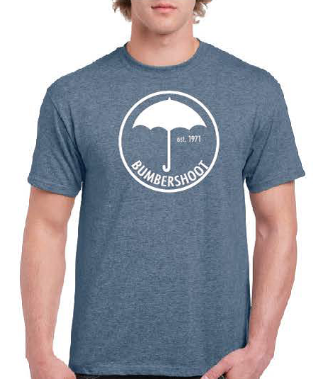 Unisex short sleeve umbrella logo t-shirt