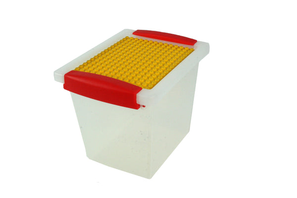 Block 'n' Lock®; Snap Handle Tote: 2QT with building plate