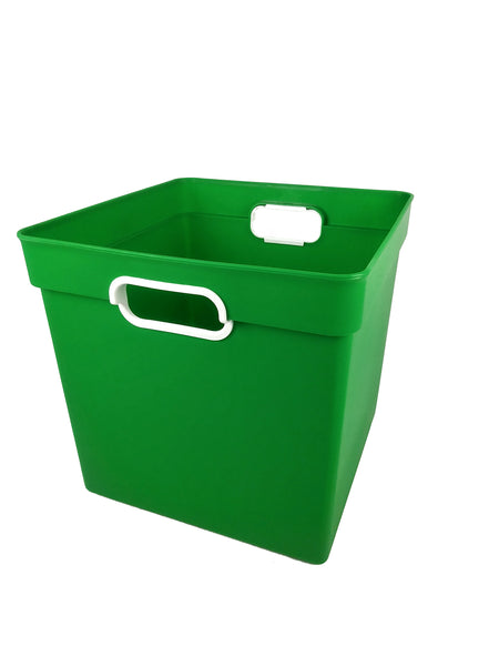 Cube Bin  Currently out of stock in Green, Clear, Orange and Blue