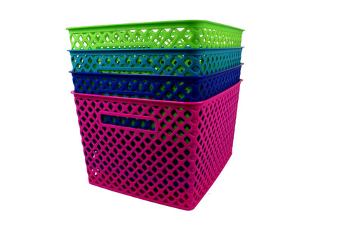 Woven Basket: Large  Out of stock in Blue