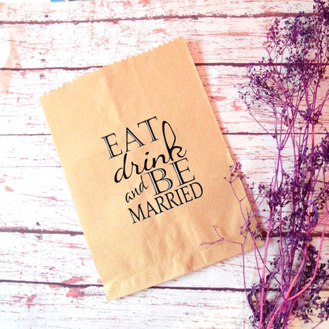 Bolsa de papel Eat,Drink and.. (50pz)
