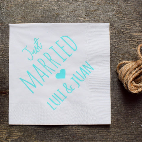 Servilleta Just Married (100pz)