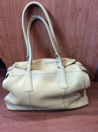 Ferragamo Yellow Leather Handbag