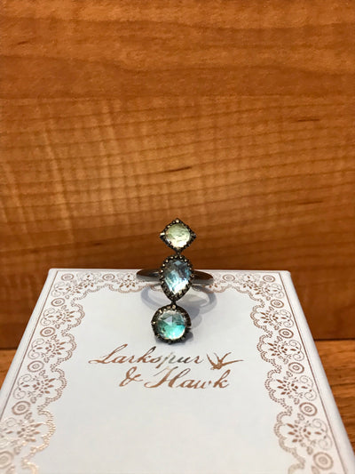 Larkspur and Hawk Multi Mermaid Ring