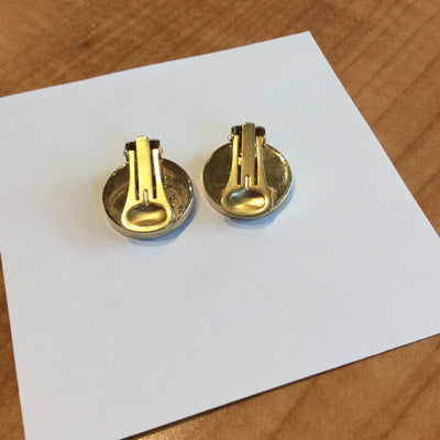 Salvatore Ferragamo Gold Clip On Earrings