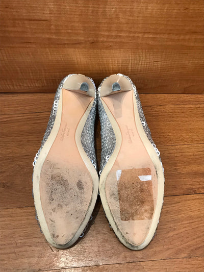 Ferragamo Sequin Pumps Size 7