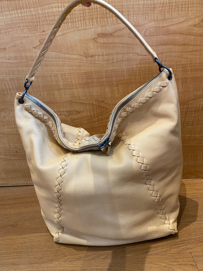 Bottega Venetta  Washed Cervo Deerskin loop hobo bag