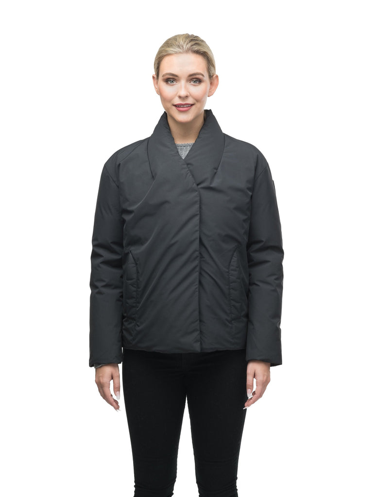 Hip Length Women's Lightweight Jacket in Black