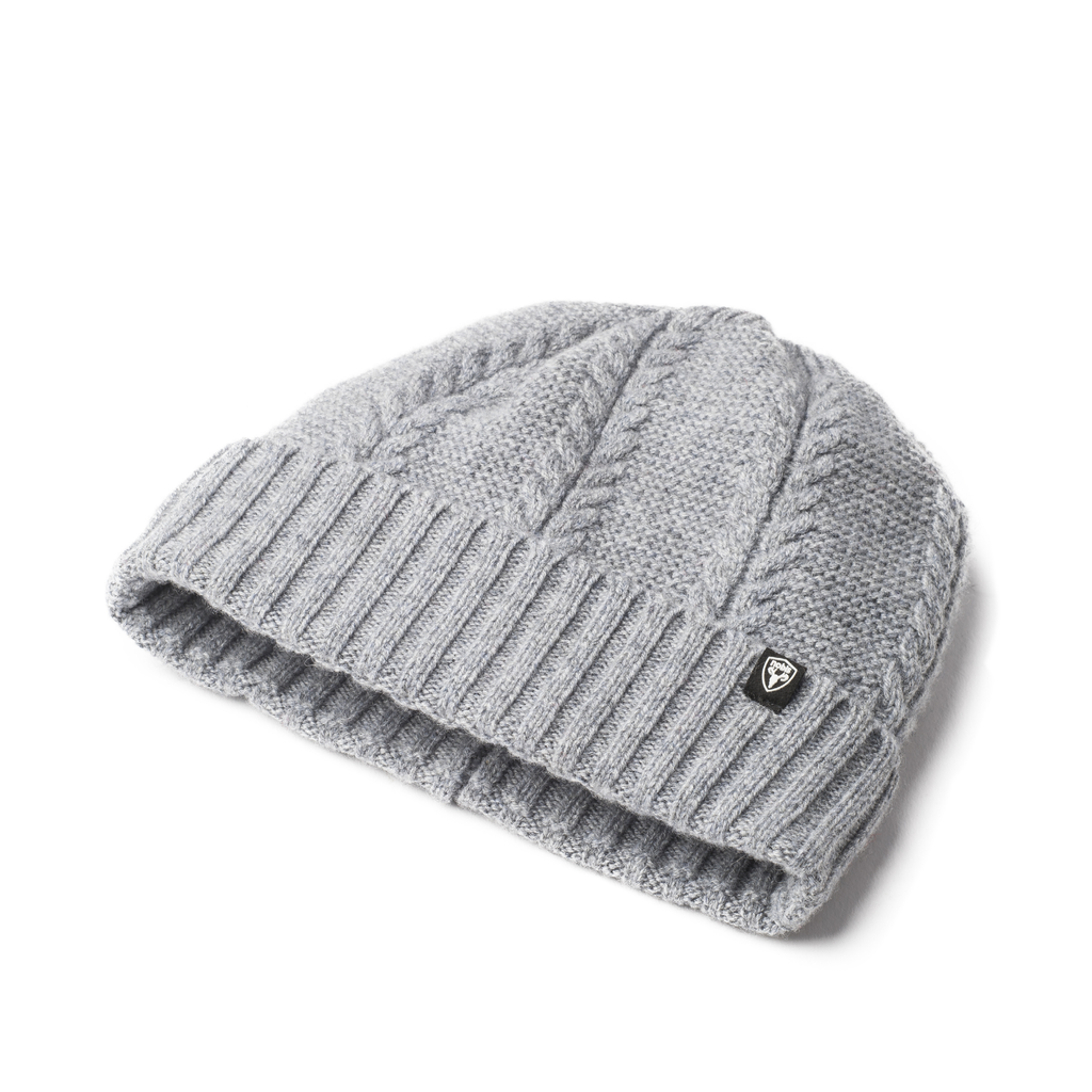 Wool ball cap in Heather Grey