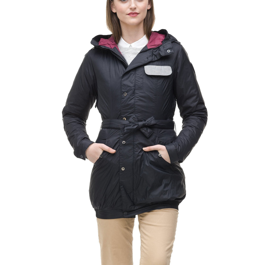 Women's ultralight down jacket in Black