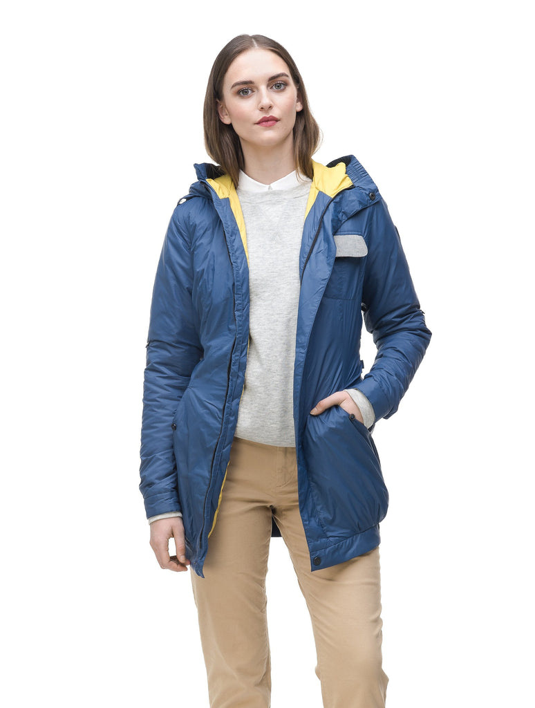 Women's ultralight down jacket in Denim Blue
