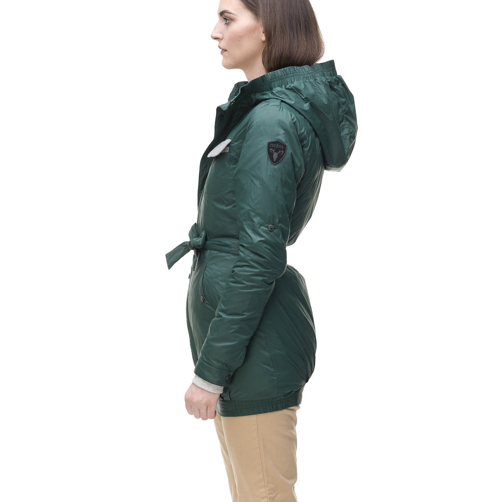 Women's ultralight down jacket in Dark Forest