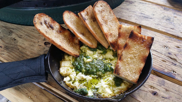 Sizzling Feta with Baguette