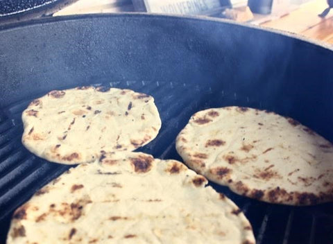 Grilling the Pita Bread