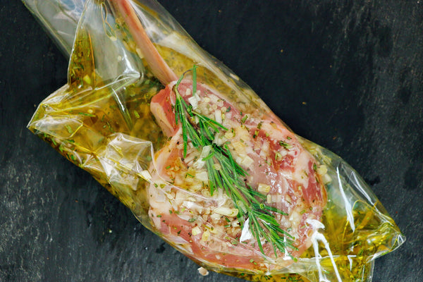 Veal in bag with marinade
