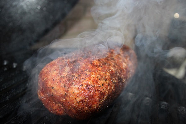 Fogo Charcoal, Vortex, Big green egg,Blueberry Muffin Stuffed Pork Sausage