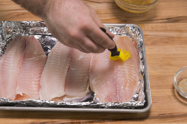 brushing the tilapia