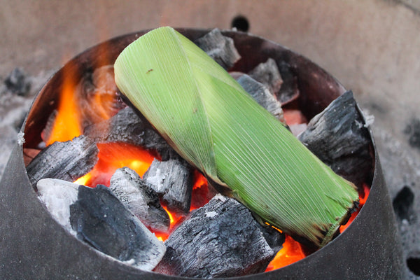 Whole Corn on the Cob over Fogo Charcoal