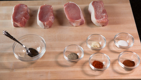 FOGO Recipe - JUICY GRILLED DRY RUBBED PORK CHOPS - Spices