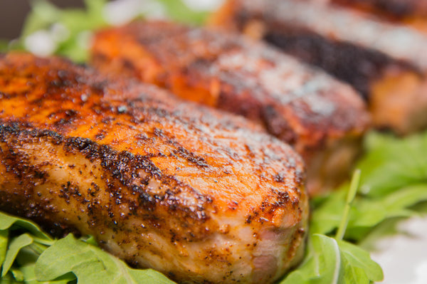 FOGO RECIPES - JUICY GRILLED DRY RUBBED PORK CHOPS - Finished
