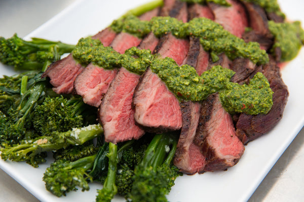 Fogo Charcoal, Vortex, Big green egg, Grilled Tri Tip Steak with Chimichurri