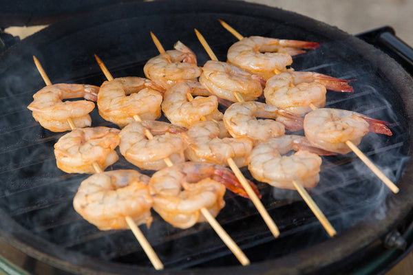 Fogo Charcoal, Vortex, Big green egg, Grilled Sriracha Shrimp Skewers