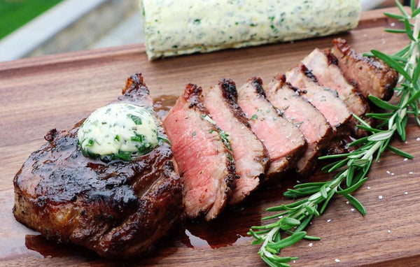 Compound Butter and NY Strip Steak