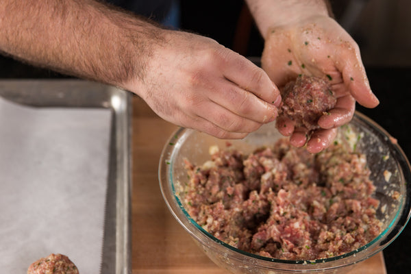 forming the meatballs
