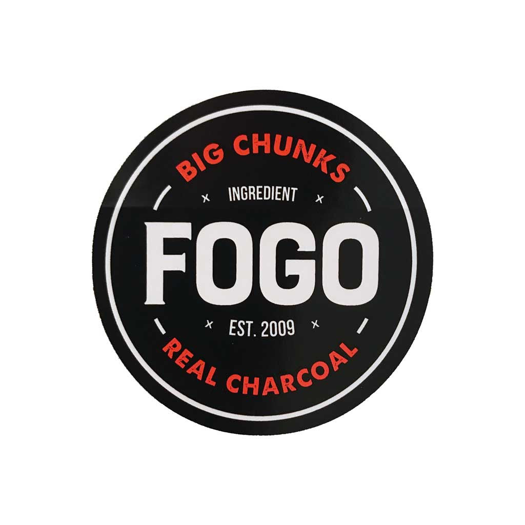 Fogo Sticker 3 x 3 Big Chunks Real Charcoal