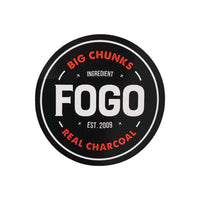 FOGO Sticker &quotBig Chunks - Real Charcoal""
